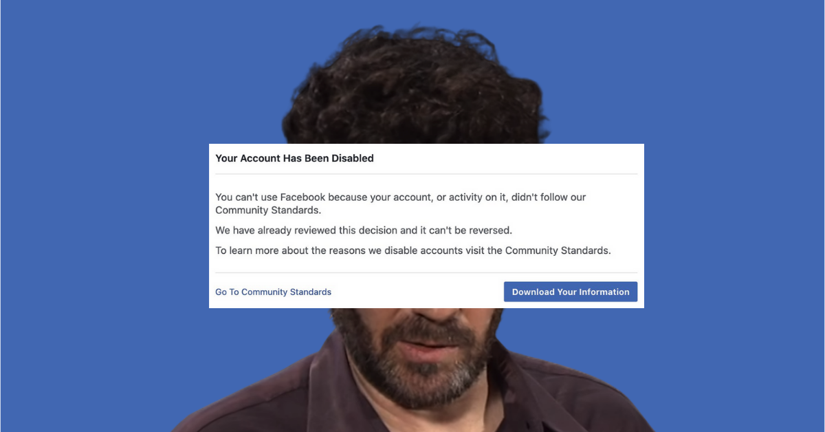 Bret Weinstein Banned from Facebook for Literally No Reason